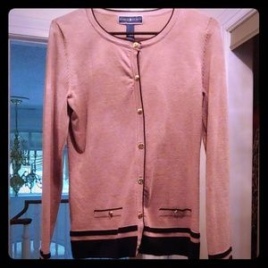 Karen Scott gold button cardigan